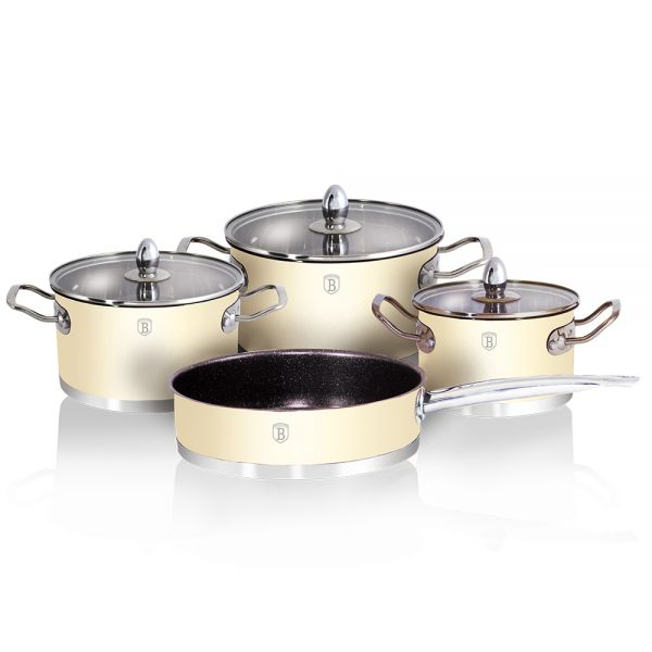 Set de gatit inox, 7 piese Metallic Cream, Passion Collection